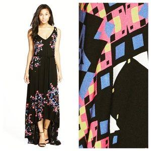 French Connection Black Geometric Print Maxi Dress